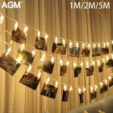 10 20 40 leds garland card photo clip led string lights new