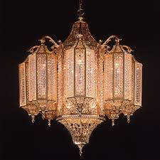 moroccan k9 clear crystal chandelier antique gold mosque cage