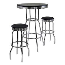 Bar Stool Sets Of 3 Winsome Summit Pub Table And 2 Swivel Stool Set 3