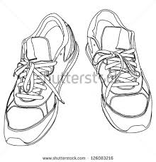 tying sports shoes stock vector 126083216 shutterstock