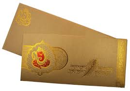 marriage card marriage card in golden with ganesha and sanskrit shloka