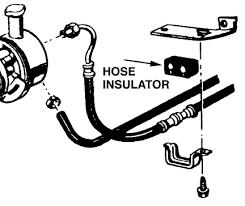 66 mustang power steering power steering hose insulator 1965 66 mustang