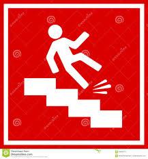 fall danger slippery stairs illustration 64686375 megapixl