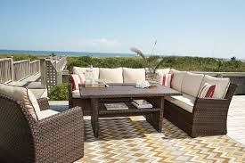 Ashley Furniture Patio Sets - outdoor by ashley p451 salceda sectional seating set ashley