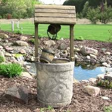 Tuscan Garden Decor Sunnydaze American Outdoor Wishing Well Water Fountain