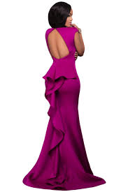 woman cocktail dinner party solid floor length mermaid celebrity