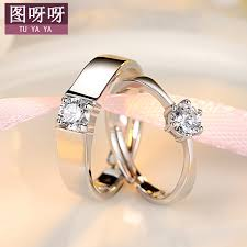 simple wedding ring couples rings japan and south korea influx of students student