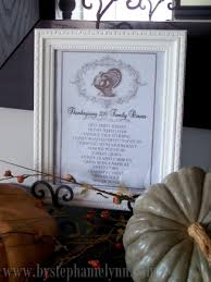 framed thanksgiving menu with printable template bystephanielynn