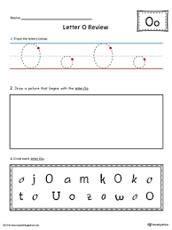 letter o practice worksheet myteachingstation com