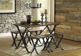 Ashley Furniture Kitchen Table Sets Industrial Style Rectangular Dining Room Table Set By Signature