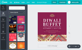 Diwali Invitation Cards Design Custom Diwali Invitation Cards For Free Canva