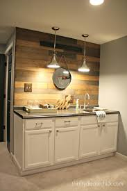 thrifty decor chick beadboard backsplash cozy kitchens my new favorite wood planked wall from thrifty decor chick