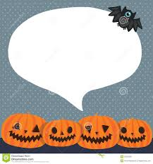 Cute Funny Halloween Pumpkins With Bubble Speech Royalty Free