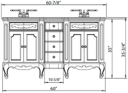 Width Of Standard Bathtub What Is The Standard Height Of A Bathroom Vanity
