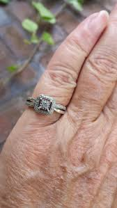 diamond ring size 6 3 4 1980 u0027s genuine natural diamond princess