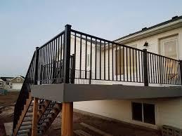 black metal deck railing utah