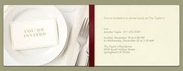 place setting template dinner party invitations evite