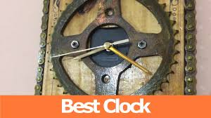home made clock sprocket and chain diy clock youtube
