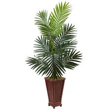 4 5 artificial tree in decorative wood planter jcpenney