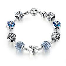 charm bracelet charms sterling silver images Antique 925 sterling silver heart charm bracelet diyosworld jpg