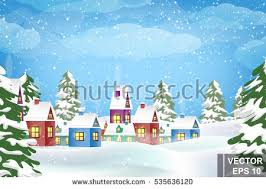 happy new year merry christmas landscape stock vector 512685400