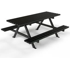 Park Bench And Table A U2013frame Picnic Table Waste Bins And Park Furniture Unicorn Urban