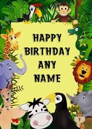 Jungle Birthday Card Jungle Birthday Card Choice Image Free Birthday Cards