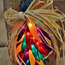 red yellow green and purple chili pepper ristra string lights 10