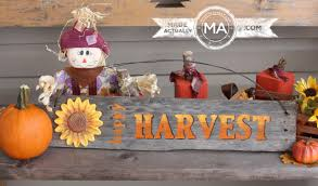 happy harvest sign made from recycled wood made actually