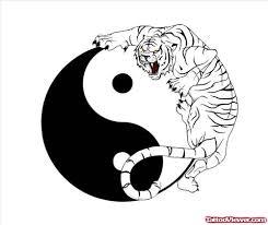 yin yang and tiger on half sleeve viewer com