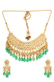 green necklace set images Dilan jewels pure collection green colour ethnic kundan indian jpg