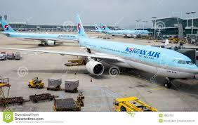 korean air planes at incheon airport editorial image image 26852120