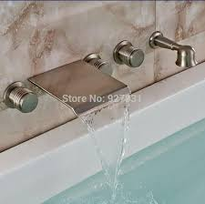 Tub Faucet With Handheld Shower Online Cheap Luxury Waterfall Spout Wall Mounted Bathtub Tub