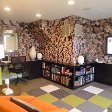 Home Interior Wallpaper 15 Exquisite Home Offices With Stone Walls