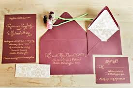Wedding Invitation Suite Picture Of Burgundy And Gold Wedding Invitation Suite