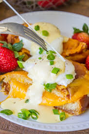 cuisine hollandaise grilled cheese eggs benedict with bacon and hollandaise sauce the