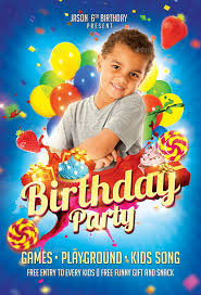 kids birthday party kids birthday party flyer by eyestetixstudio graphicriver