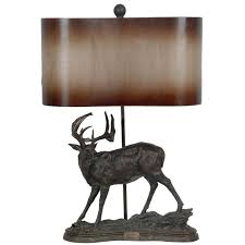 rustic wildlife pottery table lamp reclaimed furniture design ideas