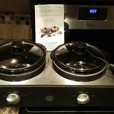 3 Crock Slow Cooker Buffet by Find More Bella Cucina Artful Food Double Slow Cooker Buffet