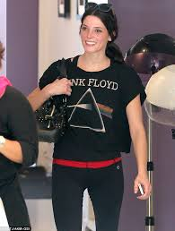 make up free ashley greene is in a great mood as she hits the nail