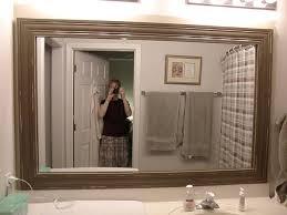 Large Framed Bathroom Wall Mirrors Inspiring Bathroom Wall Mirrors Framing Mirror Ideas Ghted