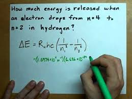 energy of light calculator energy released δe for electron in hydrogen atom youtube
