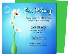 templates for retirement invitations chatterzoom