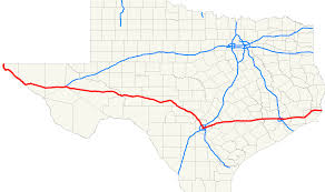 San Antonio Texas Map Interstate 10 In Texas Wikipedia