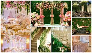 inspirational wedding stage decoration with white flowers