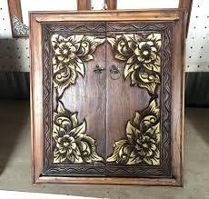 Thai Home Decor by Thai Handmade Gold And Brown Wood Mirror Frame Home Decor 14