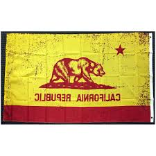 Ca State Flag 3x5 Red And Gold California State Flag Republic Ca Outdoor Garden