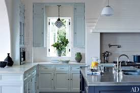 blue cabinets in kitchen painted kitchen cabinet ideas photos architectural digest