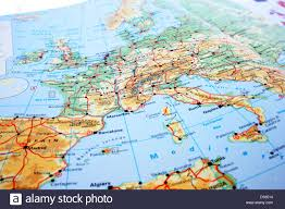 Map Of Europe With Rivers by Europe Map With Mountains And Rivers Stock Photo Royalty Free