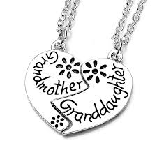 grandmother and granddaughter necklaces grandmother granddaughter necklace gear snatcher